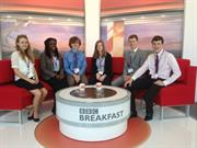 Young Engineers on the BBC Breakfast set