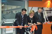 Alejandro Silva, Sarah Hildersley and Leo Somerville opening Renishaw subsidiary office in San Pedro Garza García, Mexico