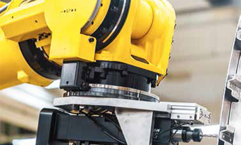 FANUC robotic arm with RESOLUTE absolute rotary encoders on the rotary axes (Image © FANUC)