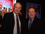 UK Business Secretary, Vince Cable, in discussions with Renishaw's Rhydian Pountney