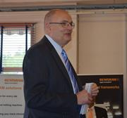 Ben Taylor, Renishaw's Assistant Chief Executive, addresses guests at the Nordic 10th Anniversary celebrations