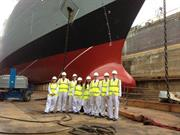 Renishaw Engineering Experience winners visit HMS Dauntless in 2013