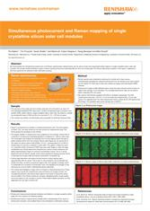 Poster:  Simultaneous photocurrent and Raman mapping of single crystalline silicon solar cell modules
